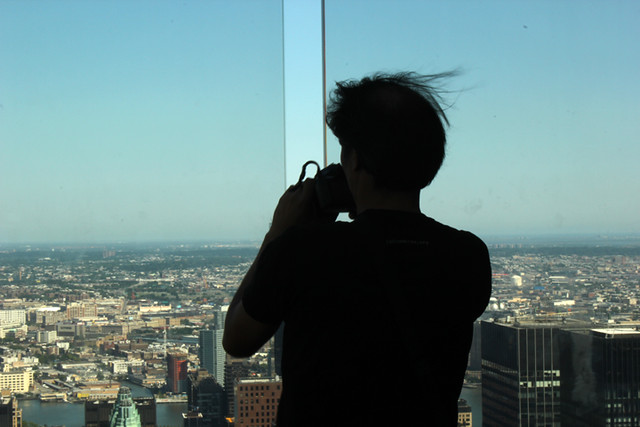Photographer in the sky