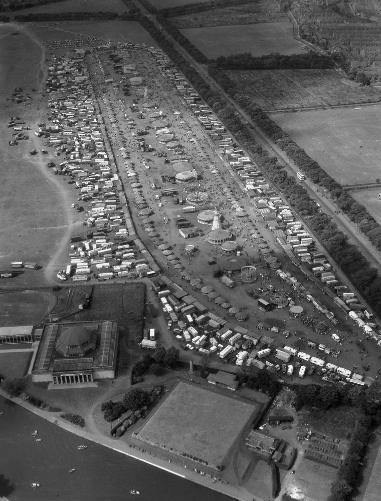 Aerial view of the Hoppings, 1964