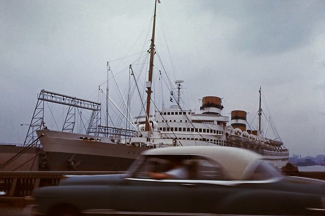 SS Nieuw Amsterdam at New York