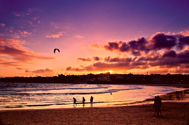 Sunset at  bondi beach sydney 3