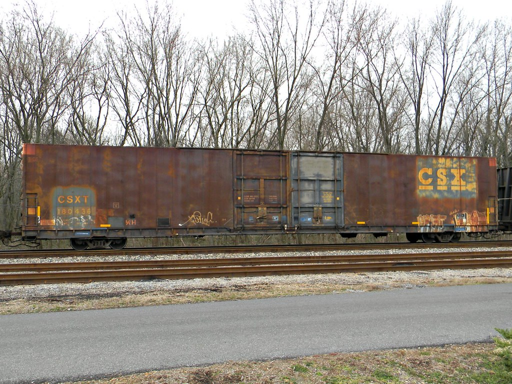 CSX Auto Parts Box Car   I thought the rust/weathering on th