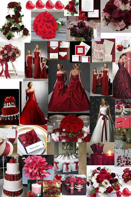 Wedding Theme Red White Colors Tema De La Boda Color