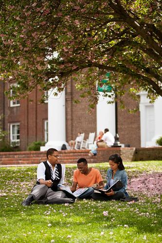 hanging around campus