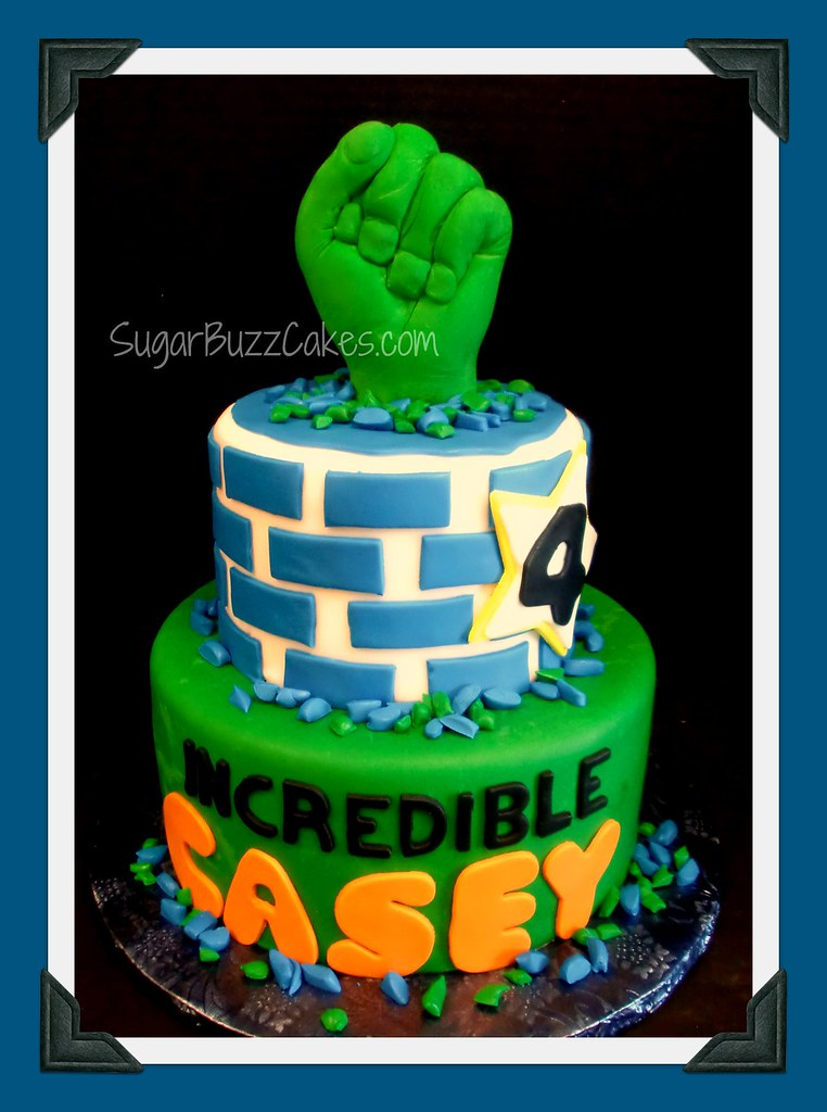 Pleasing Incredible Hulk Birthday Cake A Photo On Flickriver Funny Birthday Cards Online Chimdamsfinfo