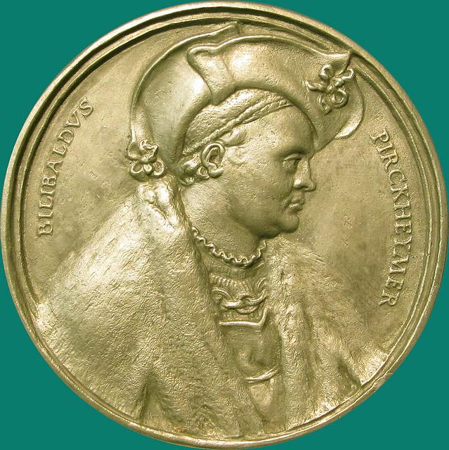 Willibald Pirckheimer - Medal by Peter Vischer after a draft of Dürer [1517]