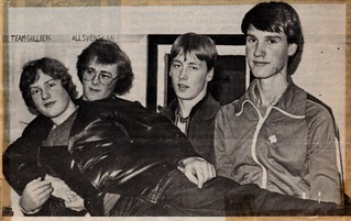 Visby SKG team 4 wins the 10m air rifle division 4 in March 1981