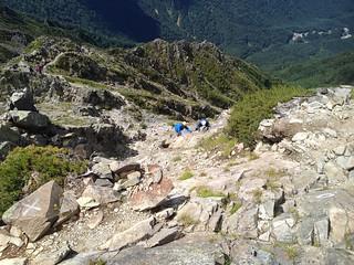 西穂高岳 山頂直下の岩場 | by ichitakabridge