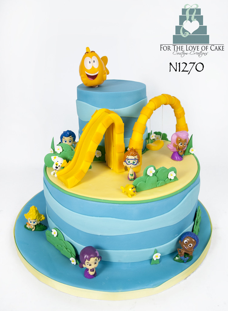 Prime N1270 Bubble Guppies Birthday Cake Toronto Genevieve Finley Flickr Birthday Cards Printable Trancafe Filternl