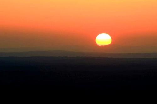 sunset red summer orange sun mountain beautiful peaceful summit