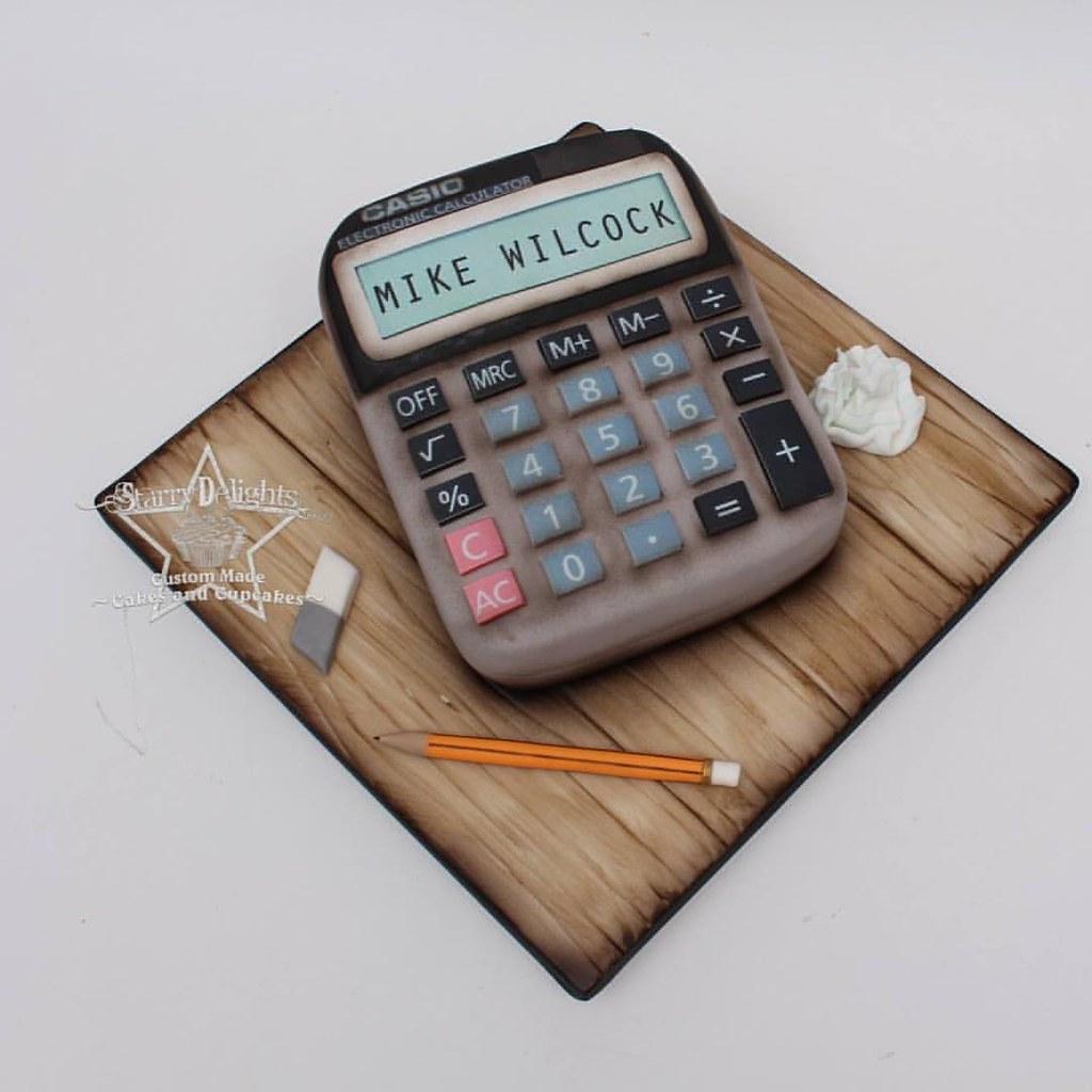 calculator #birthday #cake for Mike, #happybirthday #star