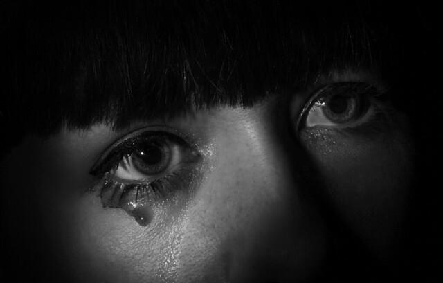 The tear...