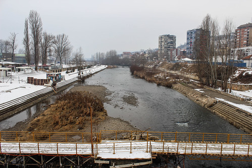 Ibar seen from the bridge, Mitrovica | by Timon91