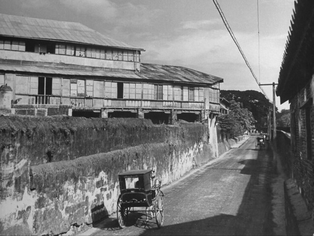 Muralla Street, Intramuros, Manila, Philippines, before Dec. 1941