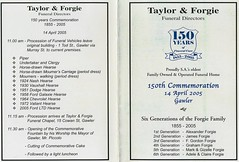 Taylor and Forgie 150th Commemoration