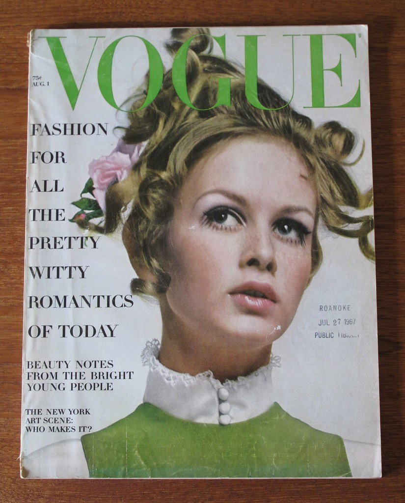 Vogue Cover Featuring Twiggy August 1967