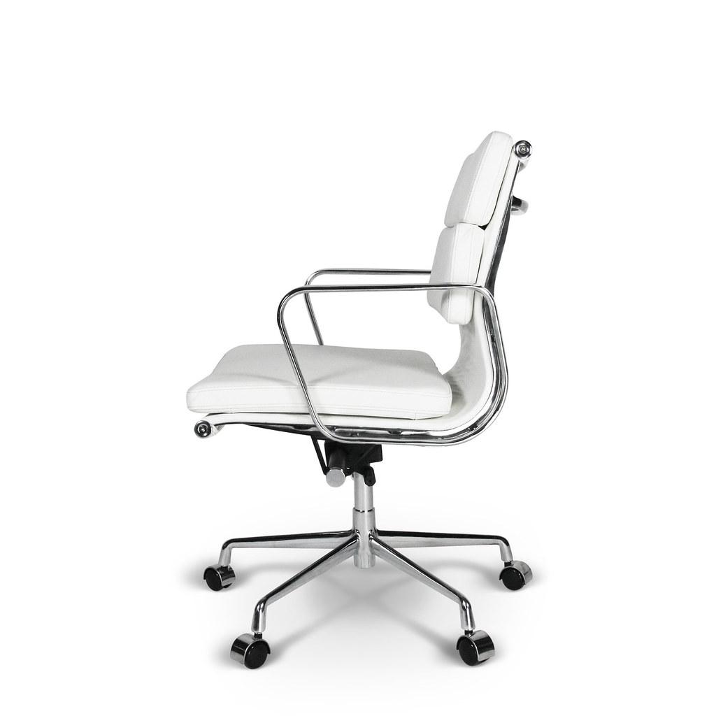 Eames Bureaustoel Imitatie.Eames Ea 217 White Leather Replica Www Furnicons Com Eng D