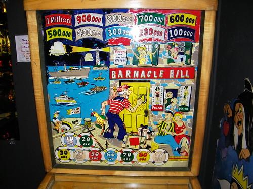 1948 Gottlieb Barnacle Bill Pinball Machine Backglass