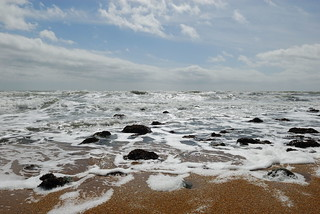 Isle of Wight, rough sea   by Nick Turland
