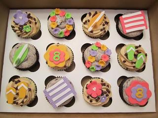 Luau Birthday Cupcakes   by Cutie Cakes WY