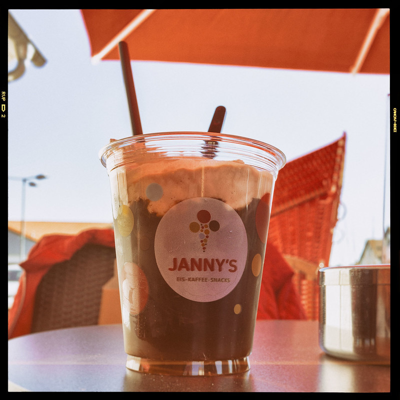 Iced coffee at Janny's