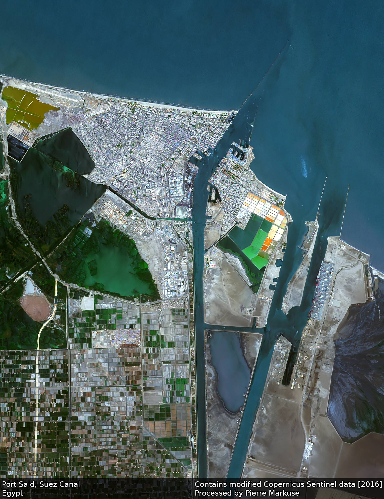 Earth from Space: Port Said, Suez Canal, Egypt
