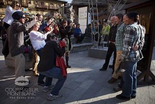 Foto di gruppo, tra gli altri il Presidente della giuria Michael Kennedy   by Courmayeur Mont Blanc