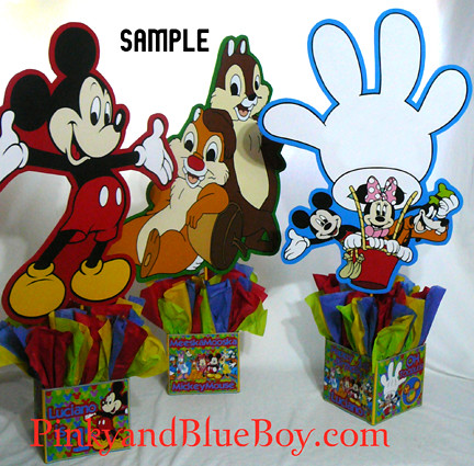 Mickey Mouse Clubhouse Birthday Party Decorations Characters Centerpieces