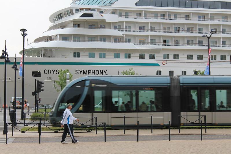 Accostage du paqubot Crystal Symphony - Port de Bordeaux - 18 mai 2012