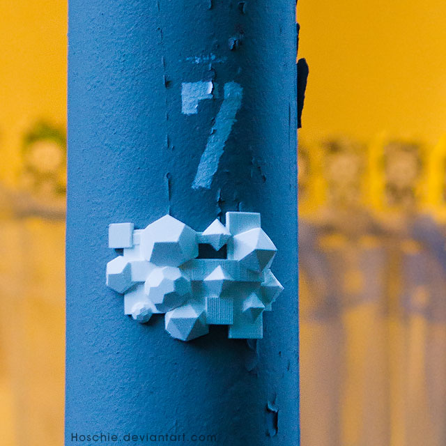 Abstract 3d Print Street Art Installation In Oberhausen Os