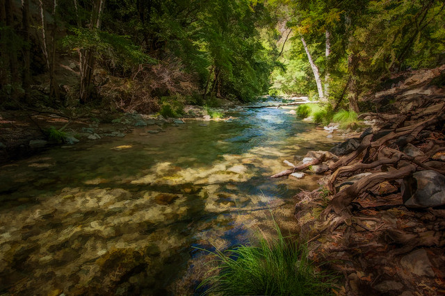 Big Sur River - Textured HDR