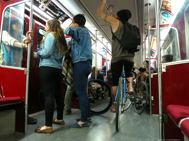 After midnight on the Bloor line
