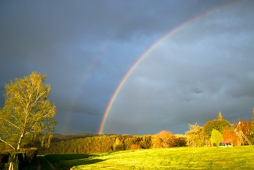 sunset evening abend rainbow garten regenbogen onexplore pluwig