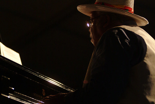 Ellis Marsalis at Jazz Fest 2007. Photo Leon Morris.