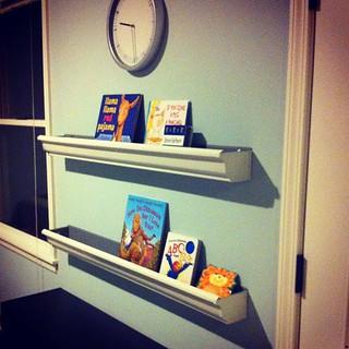 Another project complete! Rain gutter bookshelves | by allisonsmart