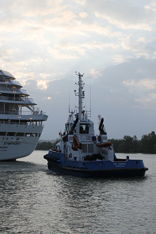 RM Thomas - Accostage du paquebot Crystal Symphony - Port de Bordeaux - 18 mai 2012