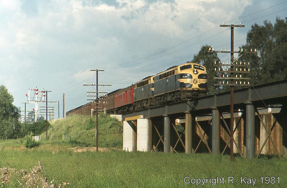 S-313 & B-60 on Broken River bridge at Benalla by Robert Kay