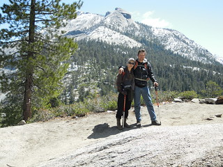 Hiking (and Climbing) Half Dome: Matt and Mel below the sub dome | by mormolyke