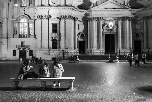 Notte a Piazza Navona