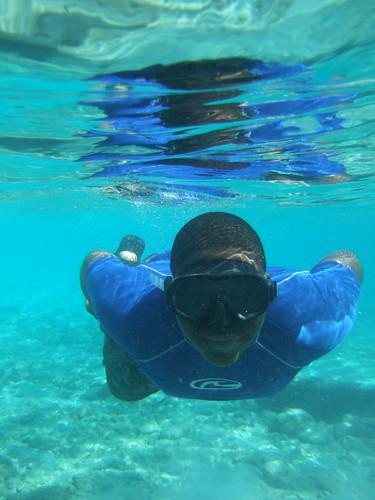 Mickey underwater