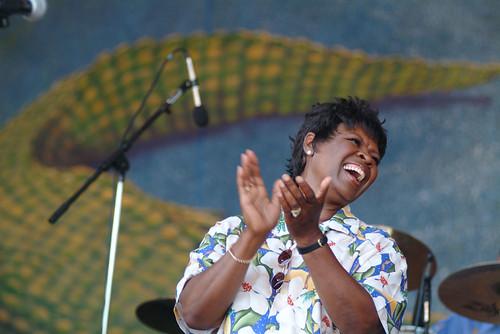 Irma Thomas at Jazz Fest 2007. Photo Leon Morris.