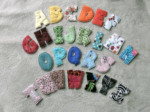 plush alphabet