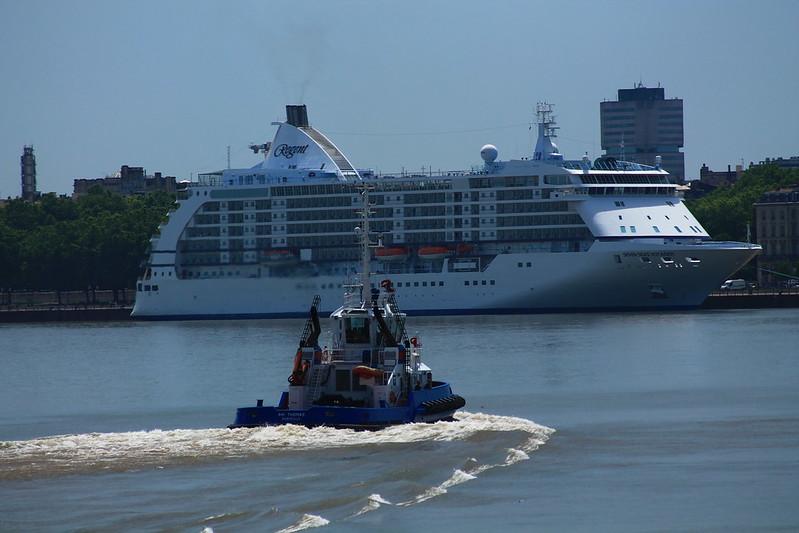 Départ du paquebot Seven Seas Voyager - Bordeaux - 31 mai 2012