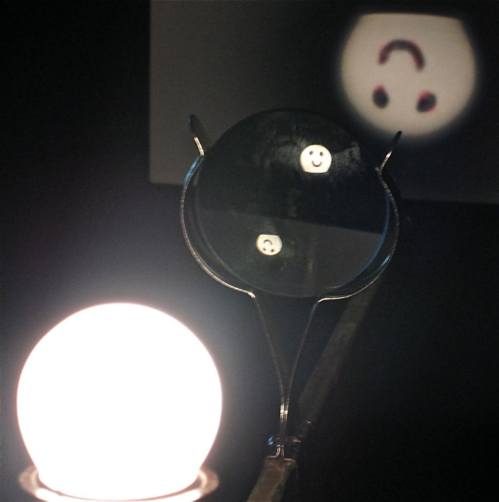 Smiley | A light bulb, with a smiley face inscribed on it is