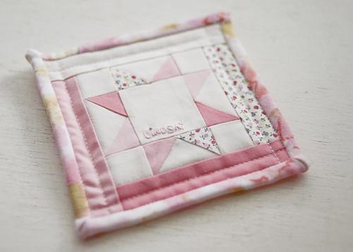 Super Mini Quilt Name Tag | by Lindsay Széchényi