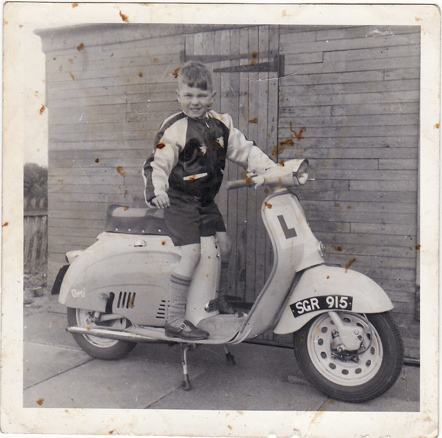 me on scooter maplewood ave 1962