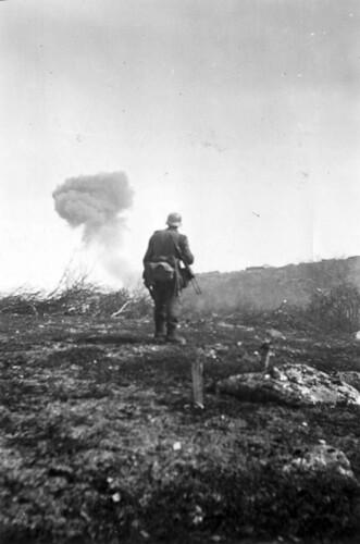 Stuka-angrep på bunkere i Titowka