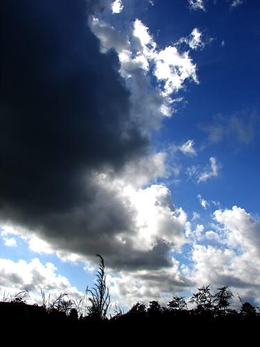 blue light sky white weather clouds dark skyscape