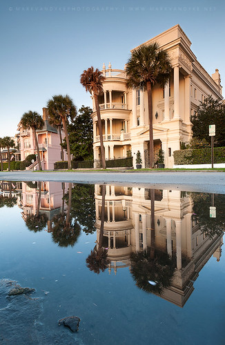 street homes urban reflection sc water architecture sunrise puddle outside outdoors photography dawn reflecting early downtown waterfront south southcarolina historic charleston southern palmtree development streetscape neoclassical thebattery stately charlestonharbor lowcountry southernunitedstates oldsouth americansouth palmettotree antebellumhomes eastbaystreet rainpuddle markvandykephotography charlestonpeninsula