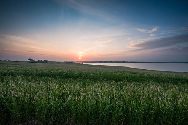 Abberton Reservoir Setting Sun