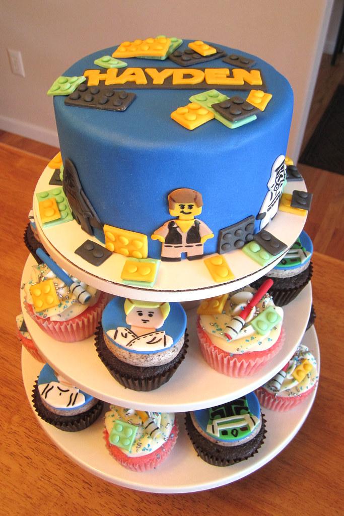 Tremendous Lego Star Wars Birthday Cupcakes And Cake Mindy Bortz Flickr Funny Birthday Cards Online Overcheapnameinfo